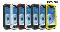 Hot Selling Gorilla Glass Protective Waterproof Dirtproof Case Love Mei for Samsung Galaxy S3
