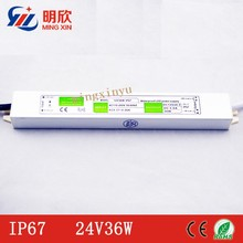 Hot promotion 100volt input dc 24v 36W led driver ip67 waterproof led power supply 24v 36w