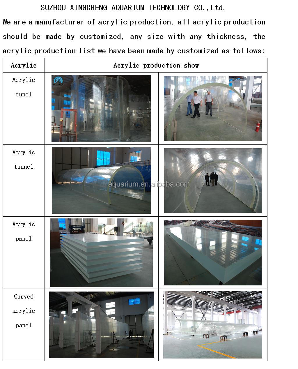 customized large shopping mall acrylic sheet aquarium