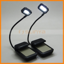 Flexible Neck AAA Battery 3 Led eBook Readers Clip On Reading Light