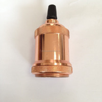 champaign gold aluminum lamp holder/High quality fluorescent lamp base /pendant lamp socket pin