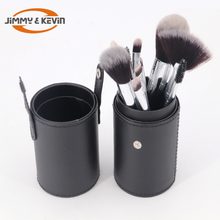 12Pcs Private Label Makeup Brush Set with leather cup holder