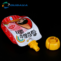 Plastic packaging standing water pouch, Baby food jelly bag, Jelly spout pouch