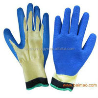 Working Cotton Palm Safety Industrial Latex Coated Rubber Glove