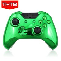 NO MOQ Chrome plating green shell case for xbox one console controller