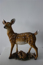 factory custom wholesale resin wild animal figure deer statue made from china
