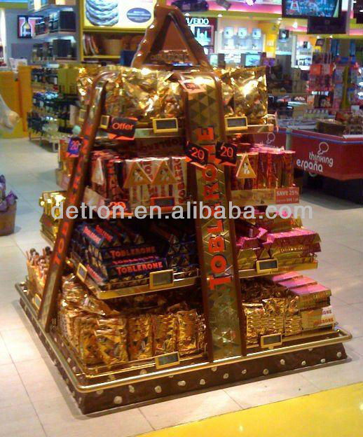 Christmas Promo 4 Side Chocolate Paper Display Stand