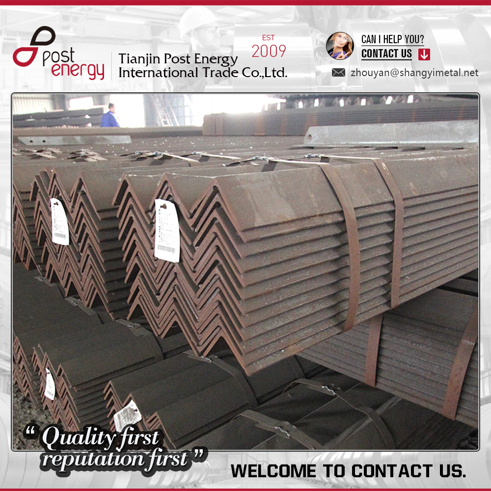 Q235 Q345 SS400 Construction structural hot rolled Angle Iron / Equal Angle Steel / Steel Angle Price