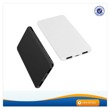 AWC956B 4000mAh Braided Finishing Power Bank 5000mah 8.8mm Ultra Slim Power Bank Dual USB Output Portable Charger