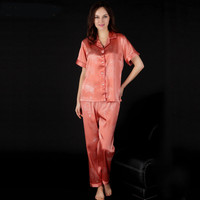 Thick mink cashmere pajamas suits cheap autumn and winter Tracksuit for ladies fashion women sleepwear set(coat+pant))