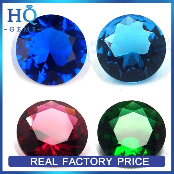 Hot Sale Ukraine 10mm Colored Diamond Cut Glass Gems
