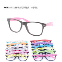 New 2015 hot selling double color frame glasses, fashion eyeglass frame with clear lens JH2622