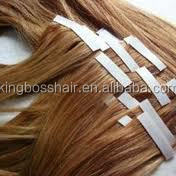 pretty blonde color best quality virgin remy skin pu weft human hair extensions