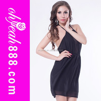 High quality low MOQ sexy transparent party dress