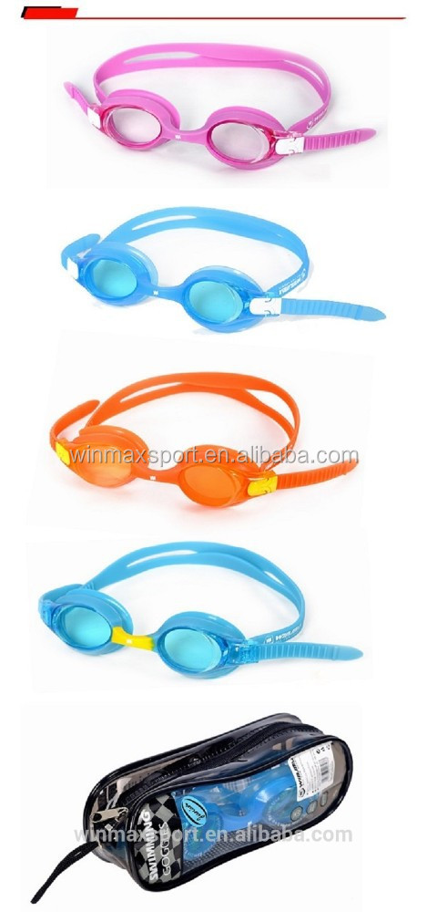 Hot sale junior cute swim goggles,4 colors professional kids swimming goggles,fun swim goggle