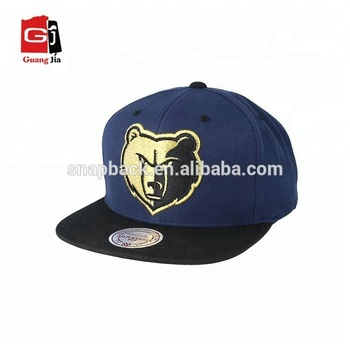 Custom 100% Cotton Flat Embroidery Anime Snapback Caps Wholesale