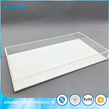 Removable wholesale hotel amenity clear acrylic tray