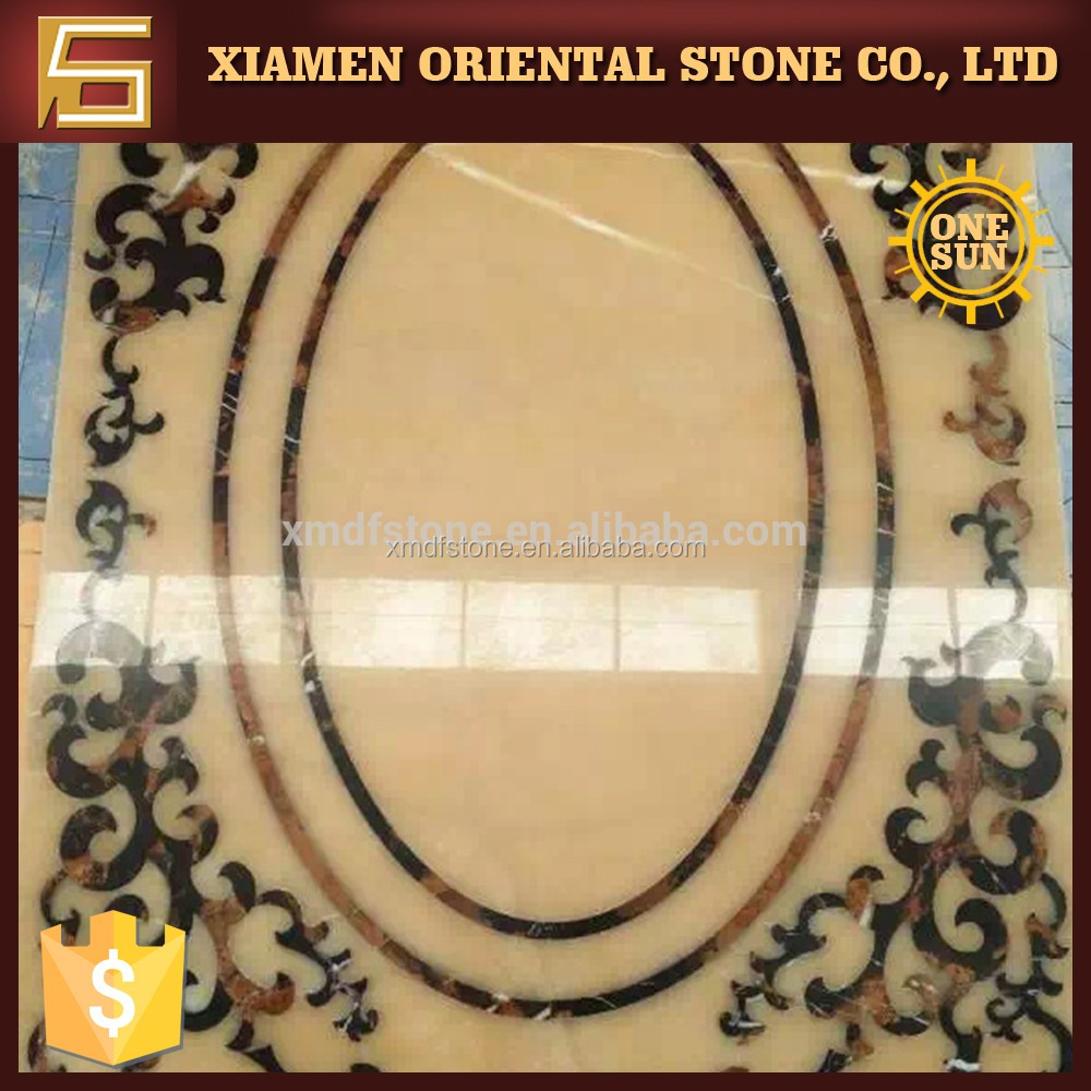 Popular natural waterjet marble tile made in China with cheap price