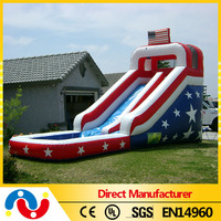 2015 best selling cheap inflatable water slide fiberglass swimming pool slide for human