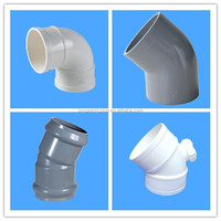 ISO standard upvc pipe fittings elbow & knee whitening cream ,30 degree elbow sell hot