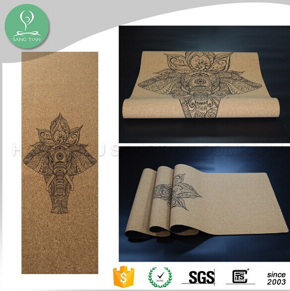 2017 wholesale anti slip organic natural rubber foldable travel yoga mat custom print private label round eco black yoga matt