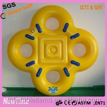 inflatable four persons square waterpark slide tube
