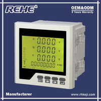 China Supply LCD Display Three Phase Digital Multi-function Power Instrument Multimeter with RS-485