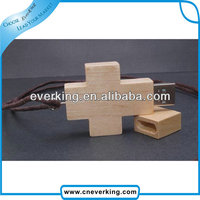 wood cross necklace usb flash drive