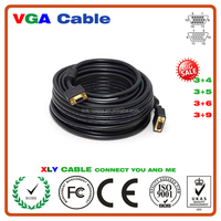New Premium New Design 15 meters 75ft Gold Plated vga cable Monitor Cable