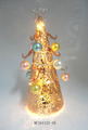 Christmas decorative glass cone-shape tree with glass balls