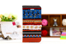 Hot selling National style with different design leather flip case for samsung i8262