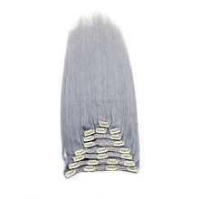 Wholesale double drawn best grade quality 10 pieces weft 220g clip in hair extension remi