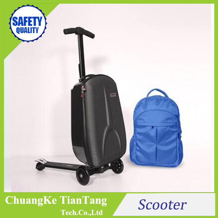 3 wheel hot sale luggage trolley case suitcase scooter luggage car luggage