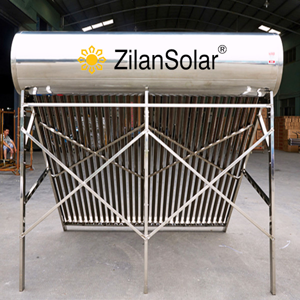 hot sales 250 liter direct plug stainless steel solar water heater production line