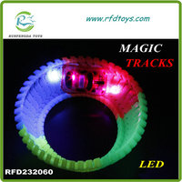 Magic track car Twister Trax toy light DIY slot car glow in the dark diy slot cars (216PCS)