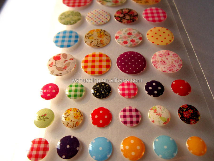 Custom button self-adhesive rubber epoxy dome stickers for ipad/phones