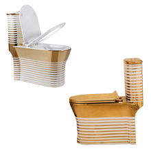asian toilet gold LV public luxter gold silver plated wc bathroom washing basin closet model in color and glossy decor flower