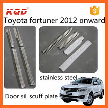 car door sill plate for toyota fortuner door sill scuff plate fortuner accessories stainless door sill plate toyota fortuner
