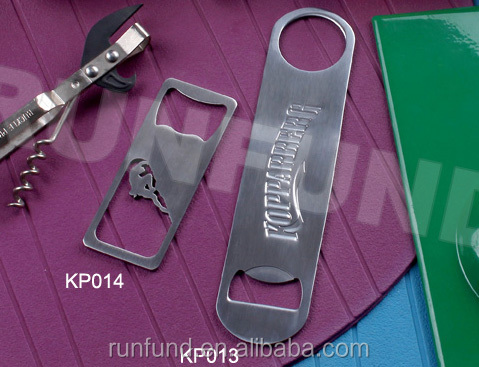 cheap wholesale custom logo bar blade stainless steel bottle opener