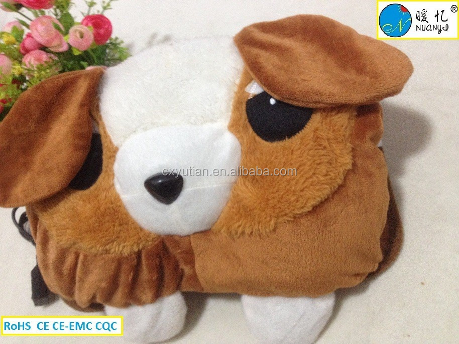 ningbo manufactory high quality hot water bottle/dog shape hot water bottle with cover