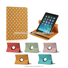 Polka Dot 360 Rotating PU Leather Case For Apple iPad 6 & air 2