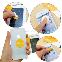 Multi-function silicone gel sticky microfiber screen cleaner for smartphone