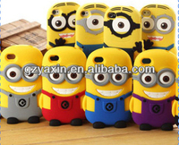 cartoon despicable me case for samsung galaxy s4,despicable me 2 minions 3d silicon soft case for samsung +iphone 4,4s & 5,5s