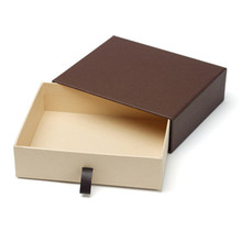 Custom logo printed paper small product drawer box packaging
