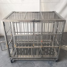 Folding mobile wholesale collapsable luxurious metal pet cage/dog cages kennels/pet crates