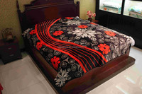 Cheaper Price Korean Print Royal Flannel Raschel Coral Fleece Blanket