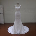 Fashion design of mermaid lace applique wedding dress for bride LA4171