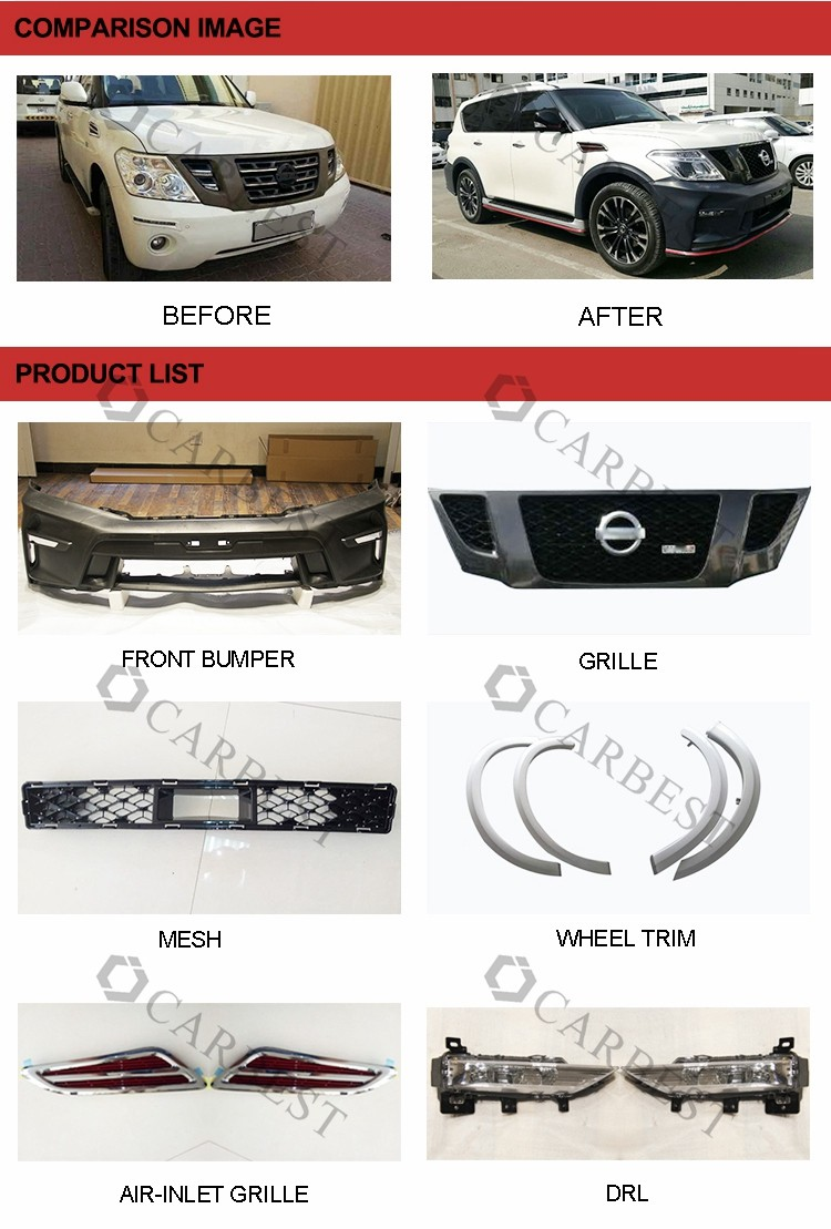 High Quality New 2016 Nismo Front Bumper For Nissan Patrol 2010-2016