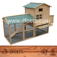 Hen House Chicken Coop Wood Pet Cage DFC004