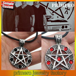 Star Supernature Bijuteria Collier Femme Pentagram Pendant Necklace Man Suspension Collares Pentagrama